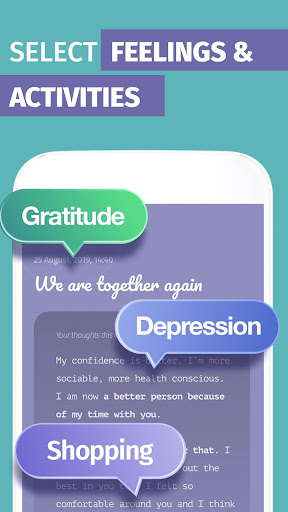 mood tracker, journal, diary | anti depression app screenshot 2