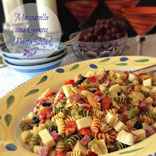 Mozzarella and Genoa Pasta Salad