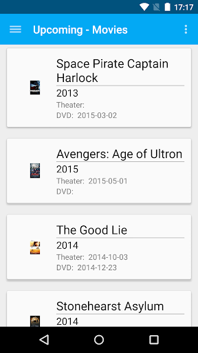 Upcoming - Movies and DVDs