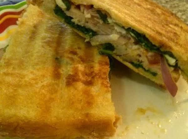 Spinach, Turkey, Feta Cheese Panini