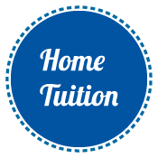 home tuition in blue circle