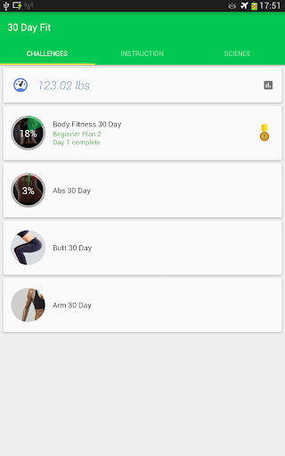 30 Day Fitness Challenge - Lose Weight Coach Screenshot