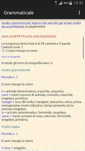 Analisi grammaticale italiana