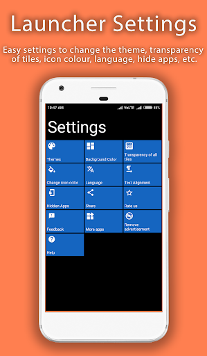 8.1 Metro Look Launcher 2018 - Theme, Smart, DIY 3.0 screenshots 6