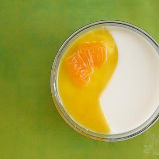 Orange-Vanilla Panna Cotta.