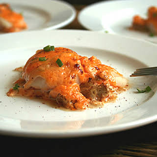Baked Scallops with Creamy Spicy Sauce.