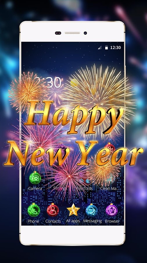 Happy New Year 2017 3D Theme - Android Apps on Google Play