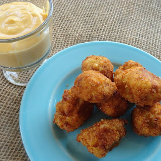 Mashed Potato Bites and Cheesy Dip.