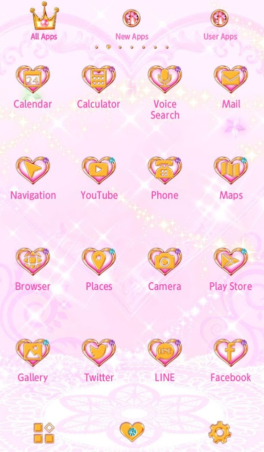 Cute Theme-Magical Heart-- screenshot