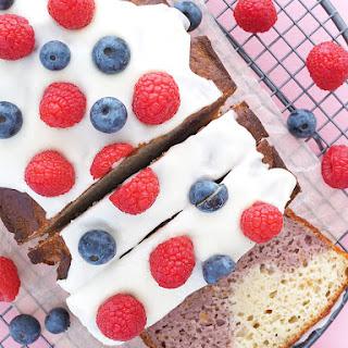Raspberry Swirl Yogurt Cake.
