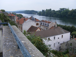 Photo: Next. the view downriver towards Paris.