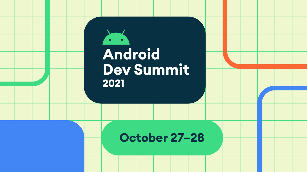 Android Dev Summit 2021 10월 27일~28일이라는 텍스트가 있는 헤더