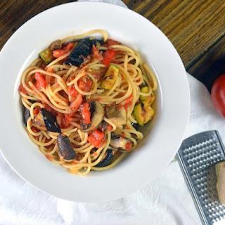 Spaghetti with Ratatouille