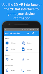 CPU Information Pro : Your Device Info in 3D VR v4.3.2-pro APK 2