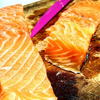 Home Cured Salmon Fillets.
