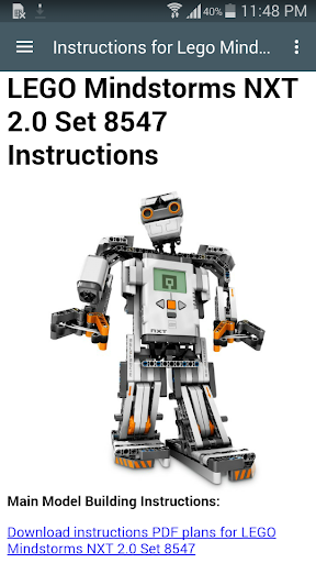 Instructions Lego Mindstorms