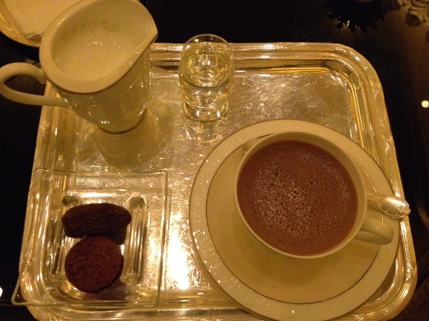 Hot chocolate, Emirates Palace, Abu Dhabi, UAE