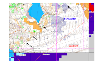 Photo: Karttapullautin contours in Ruokolahti, near the Russian border (a GQIS screen capture)