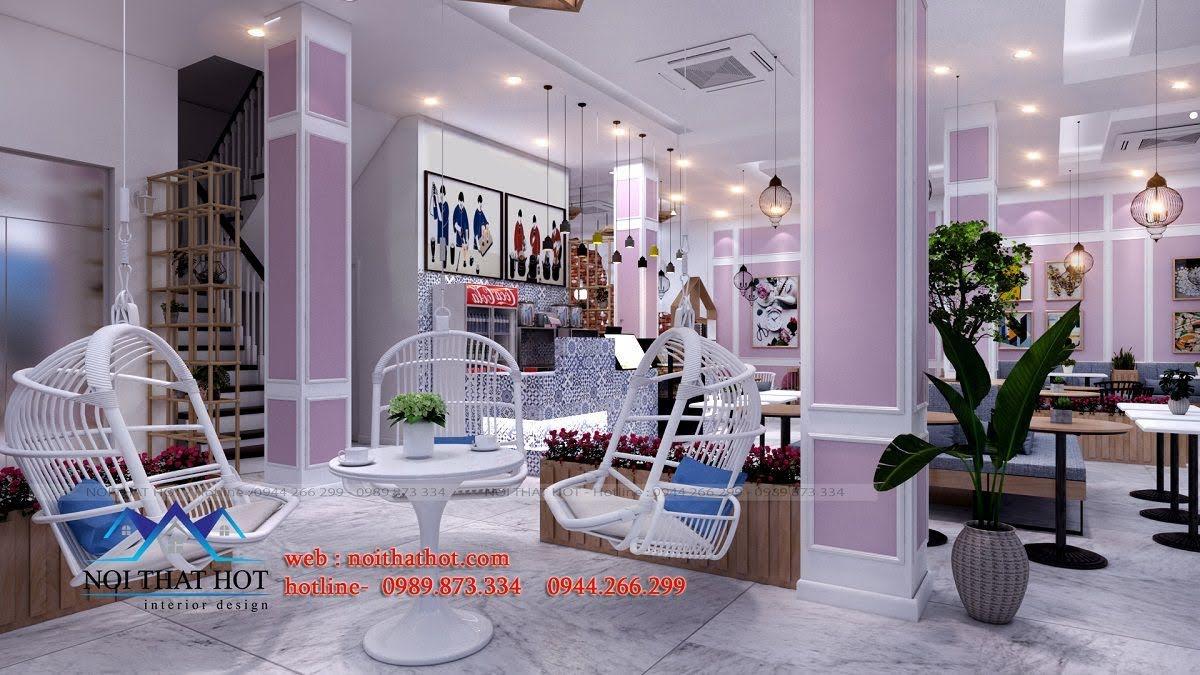 thiết kế quán trà sữa hei tea 15
