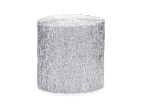 4-pack Crepepapper på rulle - silver