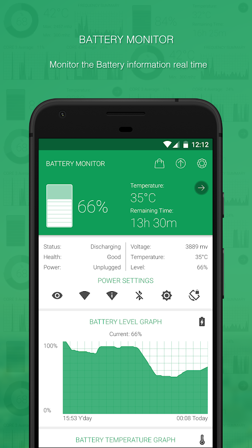 Battery Monitoring App User Interface : Battery monitor android apps on google play
