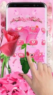3d pink rose theme - náhled