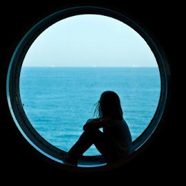 Loneliness behind the horizon by Agnieszka Cybulska - Babies & Children Child Portraits ( blue, children photography,  )