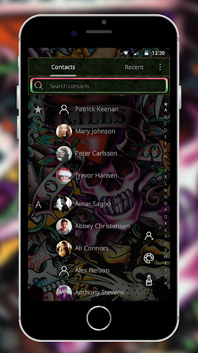 Rock Skull Graffiti Theme & Lock Screen & Call  screenshots 7