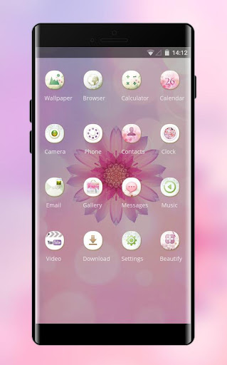 Flower rose Pink Theme for Huawei Honor note10 cheat hacks