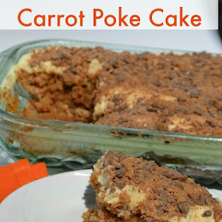 Carrot Butterscotch Toffee Poke Cake
