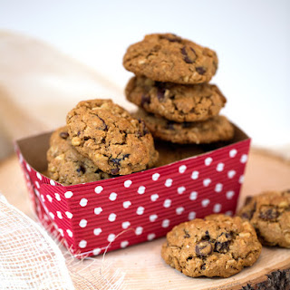 Big and Chewy Oatmeal Chocolate chip Cookies.