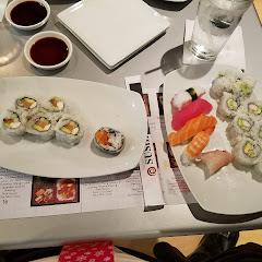 Sushi Sampler with shrimp California roll & Philadelphia roll