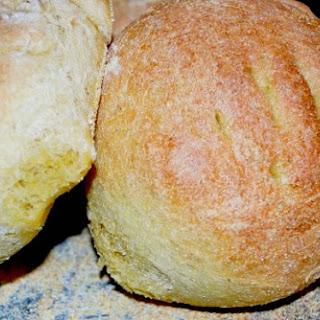 Rosemary Semolina Boule Bread.