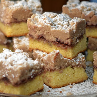 Raspberry Shortcut Crumb Cake