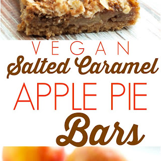 Vegan Salted Caramel Apple Pie Bars
