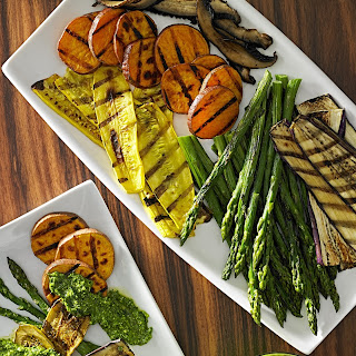 Grilled Veggies with Pesto.