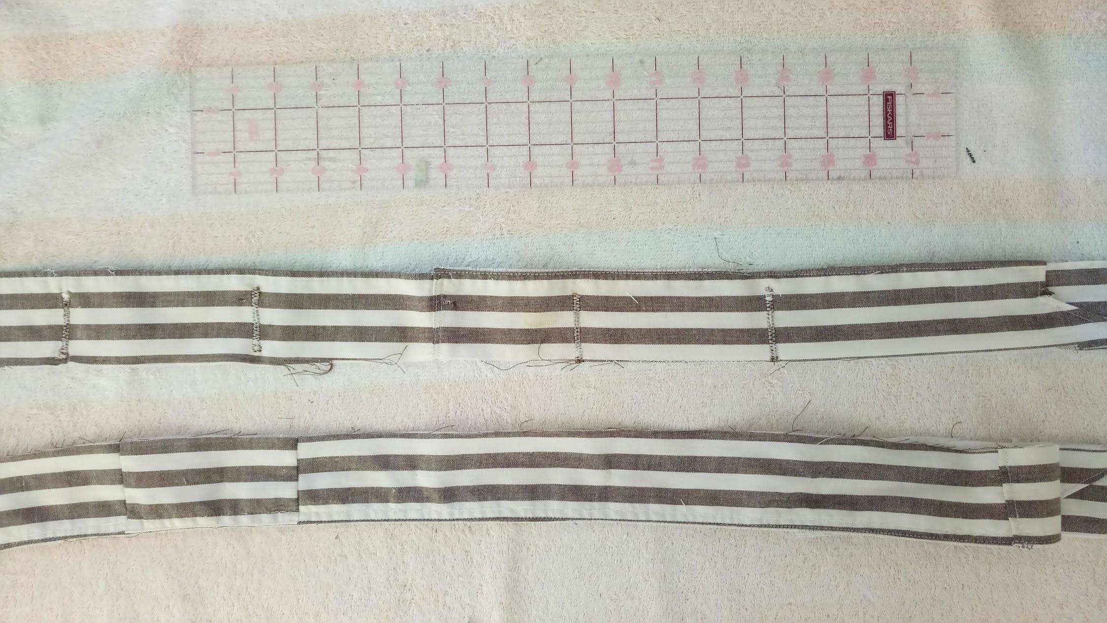 In-Progress: Striped Wrap Dress Refashion - DIY Fashion Garments   fafafoom.com