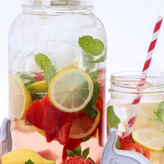 Strawberry Lemon Mint Infused Water.