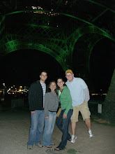 Photo: Chris, Katie, Teresa and Curt at the Eiffel Tower