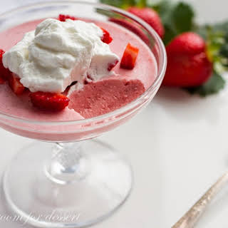 Strawberry Mousse with Lemon Whipped Cream.