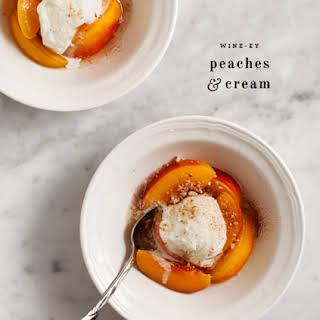 Wine-y Peaches & Cream.