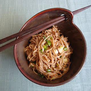 Soba Noodles with Sesame Seeds.
