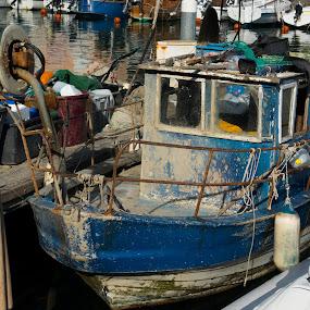 ribič by Dušan Gajšek - Transportation Boats ( piran, _mesta, obrti, ribič )