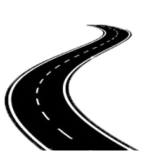 Черно белый рисунок дороги