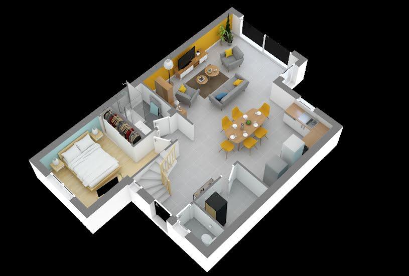 Vente Terrain + Maison - Terrain : 1200m² - Maison : 98m² à Candé (49440)