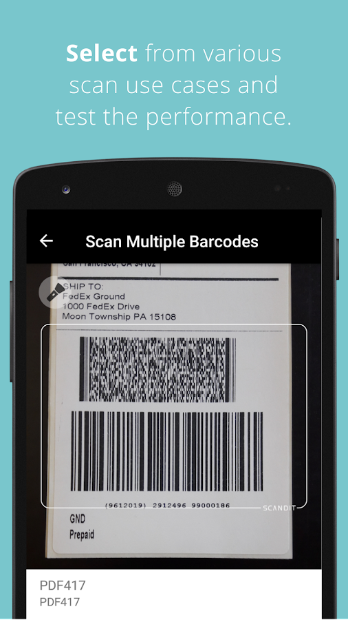 Scandit Barcode Scanner Demo- screenshot