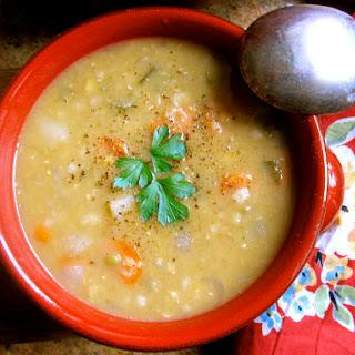 Scottish Red Lentil (and Barley) Soup.