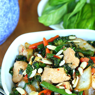 Thai Basil Chicken Stir Fry.
