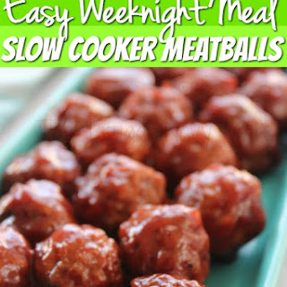 Easy Dinner Recipes – Slow Cooker Meatballs
