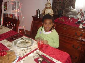 Photo: Kaleya eats